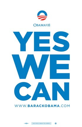 Framed Barack Obama - (Yes We Can) Campaign Poster Print