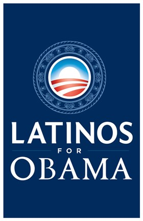 Framed Barack Obama - (Latinos for Obama) Campaign Poster Print