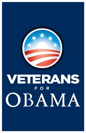 Framed Barack Obama - (Veterans for Obama) Campaign Poster Print