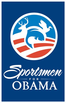 Framed Barack Obama - (Sportsmen for Obama) Campaign Poster Print