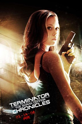 Framed Terminator: The Sarah Connor Chronicles - style BE Print