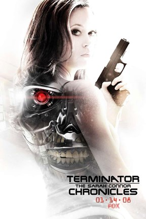 Framed Terminator: The Sarah Connor Chronicles - style BC Print