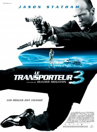 Framed Transporter 3 - French - style A movie poster Print