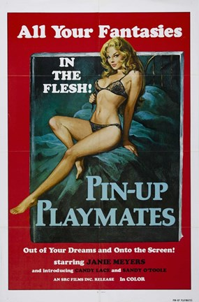 Framed Pin-up Playmates, c.1972 Print