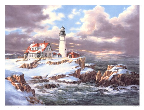Framed Portland Head Lighthouse Print