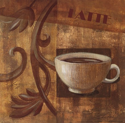 Framed Deco Coffee I Latte Print