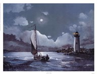 Moonlit Sail Art