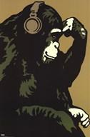 Monkey Thinker  Wall Poster