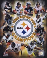 Pittsburgh Steelers 6 X Super Bowl Champions Composite  Fine Art Print