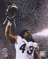 Troy Polamalu celebrates - Super Bowl XLIII - #10  Fine Art Print