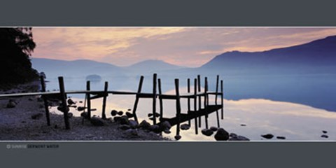 Framed Sunrise, Derwent Water Print