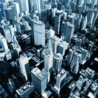 NYC Chrysler Aerial View Art