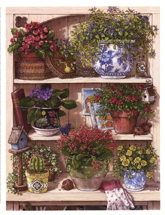 Framed Flower Cupboard Print