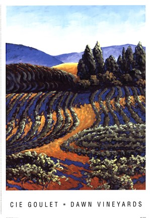 Framed Dawn Vineyards Print