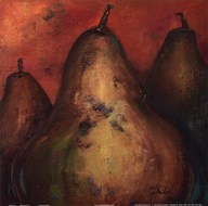 Pear Square I  Fine Art Print