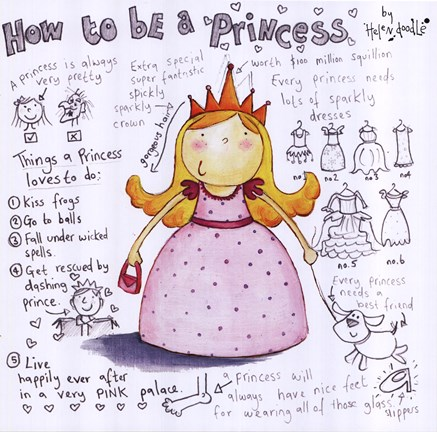 Framed How to be a Princess Print