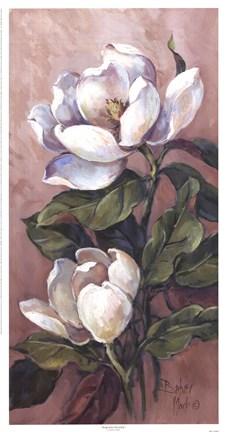 Magnolia Accents L Fine Art Print By Barbara Mock At