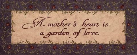Framed Mother's Heart Print