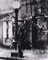Gene Kelly singing in the Rain  Fine Art Print