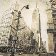 Empire State Building from Madison Ave.  Fine Art Print