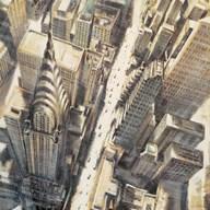 Aerial View of Chrysler Building Art