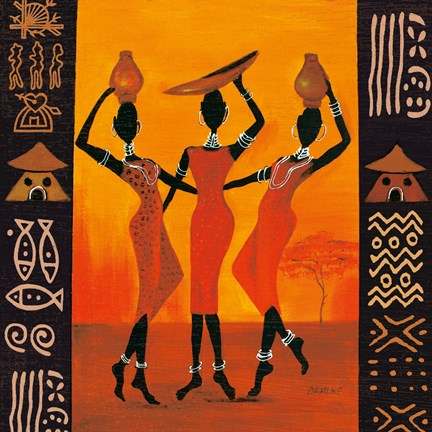 Three Gatherers Fine Art Print By Izabella Dahlke At