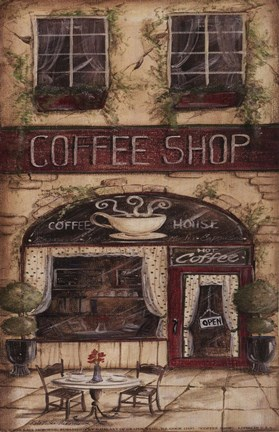 Coffee Shop Fine Art Print By Kate Mcrostie At