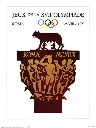 Framed Rome, 1970 (Olympic Games) Print