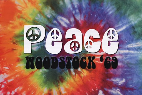 Framed Woodstock - Peace Print
