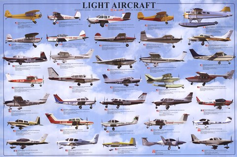 Framed General Aviation - Light Aircrafts Print