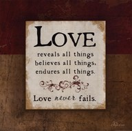 Love Never Fails Art
