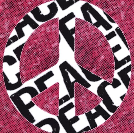 Framed Peace - Pink Black & White Print
