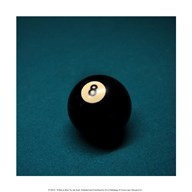 8 Ball on Blue Art
