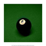 8 Ball on Green Art