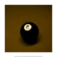 8 Ball on Brown Art