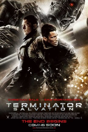 Framed Terminator: Salvation - style L Print