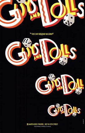 Framed Guys and Dolls (Broadway) - style A Print