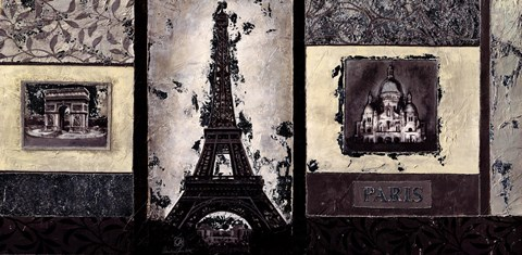 Framed Paris  5 Print