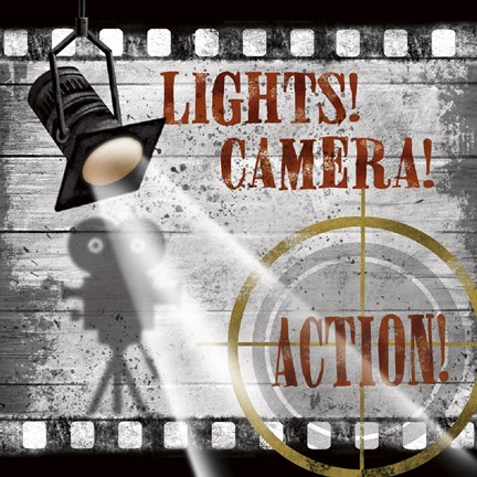 Lights Camera Action Wall Decor : Lights! Camera! Action! Fine Art Print by Conrad Knutsen at FulcrumGallery.com