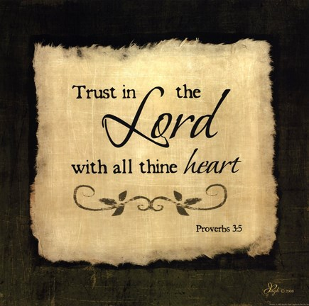 Framed Trust In The Lord - square Print