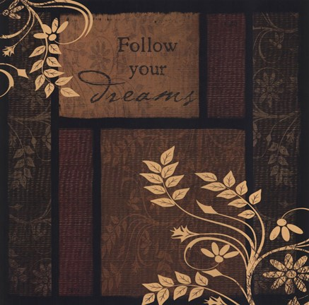 Framed Follow Your Dreams Print