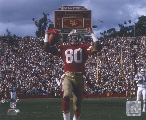 Framed Jerry Rice Touchdown Celebration Print