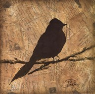 Bird Silhouette I Art