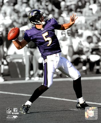 Framed Joe Flacco 2009 In the Spotlight Action Print