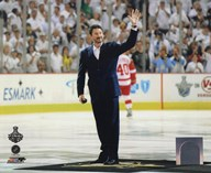 Mario Lemieux Ceremonial Puck Drop Game Three of the 2009 NHL Stanley Cup Finals (#25)  Fine Art Print