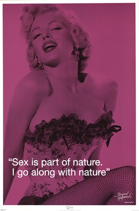 Framed Marilyn Monroe - Sex iQuote Print