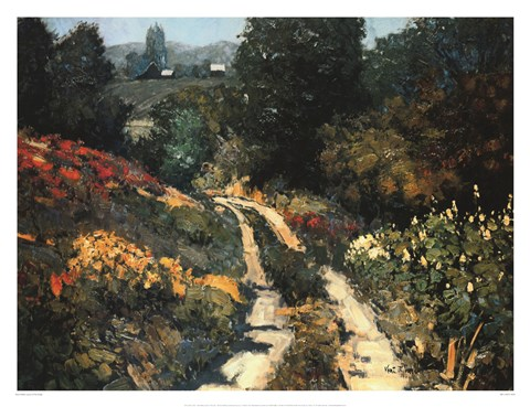 Framed Lane In The Gully Print