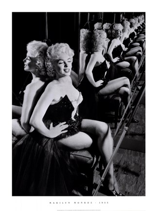 Framed Marilyn Monroe, March 25, 1955 Print