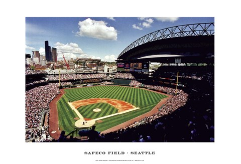Framed Safeco Field, Seattle Print