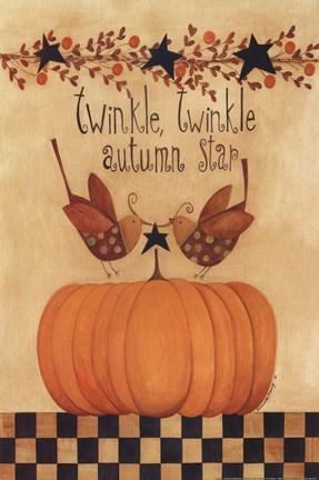 Twinkle Twinkle Autumn Star Fine Art Print By Bernadette